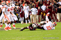 Jadeveon Clowney sacks Tahj Boyd during the 2013 Clemson game