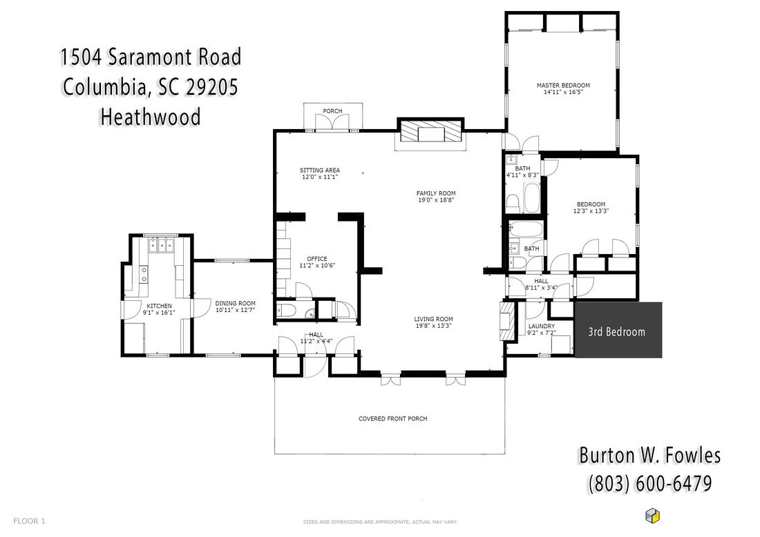 1504 Saramont Road - Floor Plan