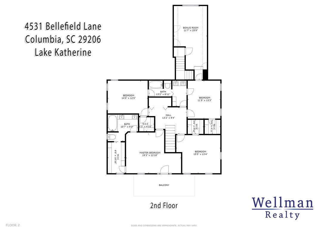 4531 Bellefield Lane - Floor Plan